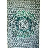 Lotus mandala printed tapestry