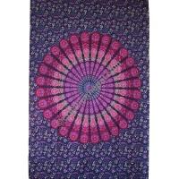 Circle mandala printed tapestry