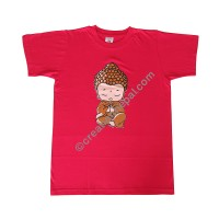 Little Buddha print stretchy cotton T-shirt