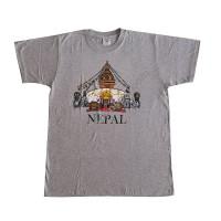 Stupa print stretchy cotton T-shirt