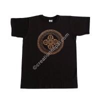 Vajra mandala print stretchy cotton T-shirt