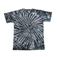 BW tie dye stretchy cotton T-shirt