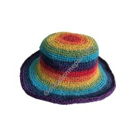 Hemp cotton rainbow hat