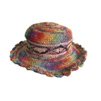 Mixed rainbow hemp cotton hat