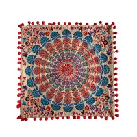 Embroidered square cushion cover1