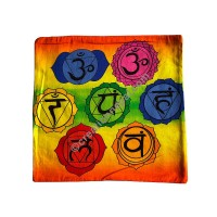Sanskrit Mantra square cushion cover
