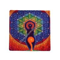 Inner chakra meditation cushion cover