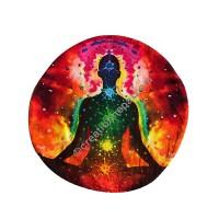Light of meditation round cushion cover