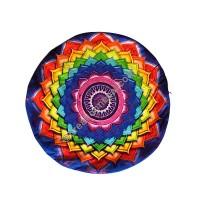 Sri-yantra round cushion cover