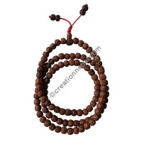 Rubbed 9mm Rudraksha beads Japa Mala
