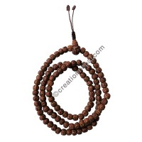 Rubbed 8mm Rudraksha beads Japa Mala