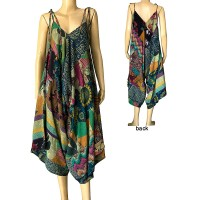 Printed cotton jumpsuit