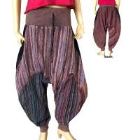 Stripy Gheri stone wash Aladdin trouser