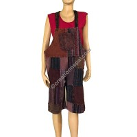 Plain-stripy Gheri patch work Brown overall
