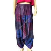 Stripes patches purple tone Aladdin trouser