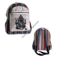 Ganesha hemp-cotton backpack
