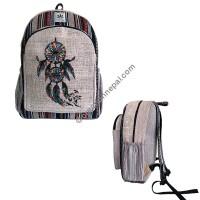Dream catcher hemp-cotton backpack