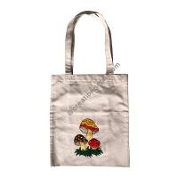 Mushroom art embroidered bag