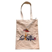 Visit Nepal artistic embroidered bag
