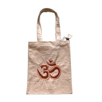 Om Mantra embroidered shopping bag