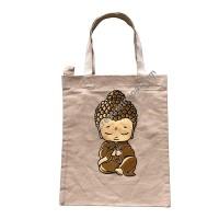 Little Buddha print tote bag