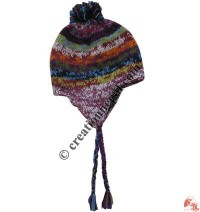 Mixed color woolen ear hat20
