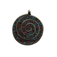 Swirl design pendant