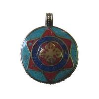 Stone setting metal pendant14