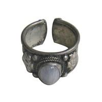 Adjustable white metal finger ring2