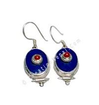 Oval shape Tibetan earring