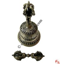 Small size silver plated Dorje and Bell set