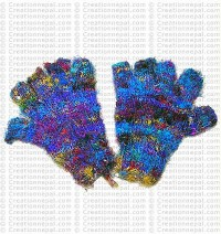 Recycked cotton half finger gloves