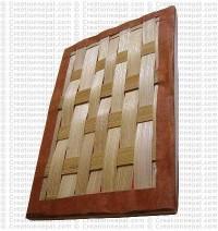 Bamboo mat design notebook