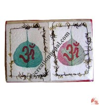 Bodhi leaf and Om cards