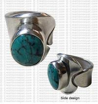 Turquoise finger ring 17