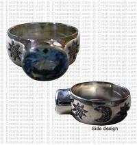 Blue Topaz silver finger ring