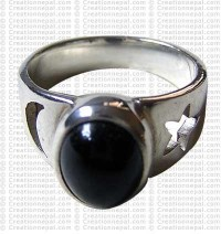 Moon and star design finger ring 1