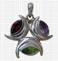 Three moon pendant