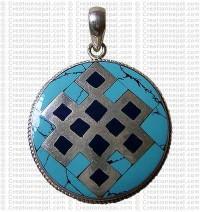 Round shape Tibetan pendant 1