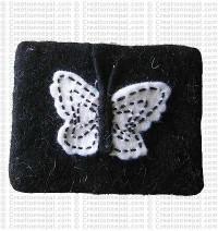 Butterfly felt coin purse 1