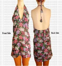 Printed string cotton top
