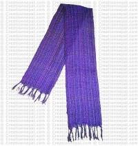 Cotton-silk net scarf