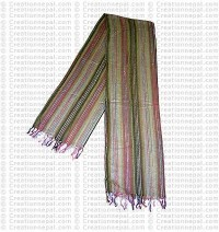 Unique design hand loomed cotton scarf