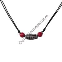 Dzi-coral necklace2