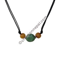 Turq-amber necklace
