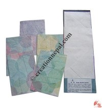 Bodhi leaves inlayed cards (packet of 5)