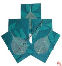 Plain Bodhi leaf patch cards 2 (packet of 5)
