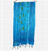 Extra thin cotton-Jari butterfly scarf99B