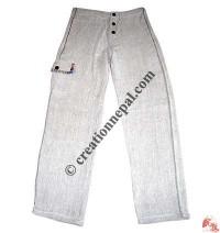 Hemp color cotton trouser
