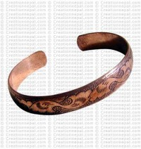 Clouds cupper bangle